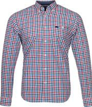 Raging Bull , Men's  Big & Tall 3 Colour Poplin Gingham Shirt, Red