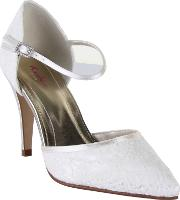 Rainbow Club , Tierney Lace Court Shoes, Cream
