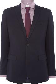 Richard James Mayfair , Men's  Clean Navy Flannel Suit Jacket, Navy