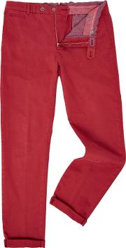 Richard James Mayfair , Men's  Coloured Cotton Chino, Red