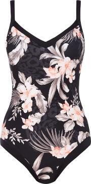 Seafolly , Pacifico Sweetheart Maillot Swimsuit, Black