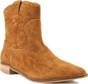 Shellys London , Bowroad Casual Western Ankle Boots, Brown