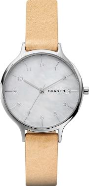Skagen , Skw2634 Ladies Anita Leather Watch, Brown
