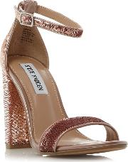 Steve Madden , Carrson S Sm Sequined Two Part Sandals, Rose Gold