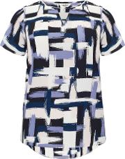Studio 8 , Plus Size Diane Brush Stroke Blouse, Multi Coloured