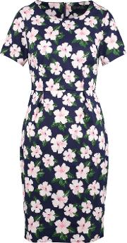 Sugarhill Boutique , Bloom Floral Knee Length Dress, Navy