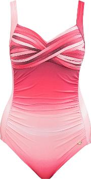 Sunseeker , Ombre Classic Cup Sized Swimsuit, Multi Coloured