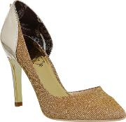 Ted Baker , Giulla High Heels, Gold Metallic