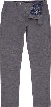 Ted Baker , Men's  Clasmay Classic Fit Textured Trousers, Grey