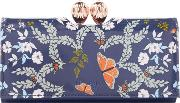 Ted Baker , Milissa Print Large Flap Over Purse, Blue