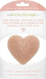 The Konjac Sponge Company , Heart Sponge With Pink French Clay