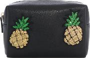 Therapy , Pineapple Make Up Bag, Black