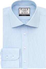 Thomas Pink , Men's  Vernon Check Super Slim Fit Bc, Blue