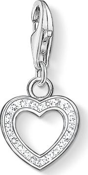 Thomas Sabo , Charm Club Heart Pendant, White