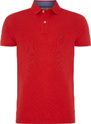 Tommy Hilfiger , Men's  Performance Polo Top, Dark Red