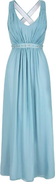 Uttam Boutique , Embellished Maxi Dress, Pastel Blue