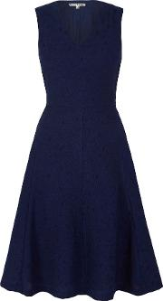 Uttam Boutique , Jacquard Midi Dress, Navy