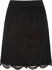 Uttam Boutique , Mixed Lace Skirt, Black