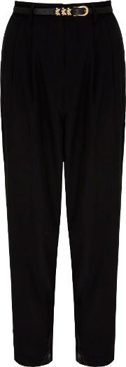 Uttam Boutique , Pleated Trousers, Black