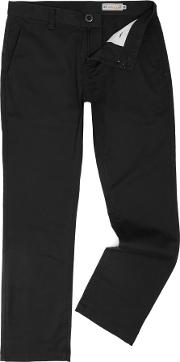Volcom , Men's  Modern Fit Chino, Black