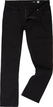 Volcom , Men's  Slim Fit, Straight Leg 15 Jeans, Black