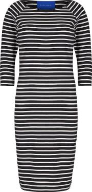 Winser London , Cotton Jersey Striped Dress, Black