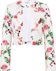 Wolf & Whistle , Carnations Textured Jacket, Multi Coloured