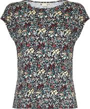 Yumi , Floral Print Top, Multi Coloured