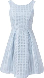 Wolf & Whistle , Textured Prom Dress, Blue
