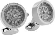 Tateossian , Stainless Steel Stainless Steel Plated Cufflinks, White