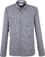 Racing Green , Men's  Wilson Puppytooth Check Shirt, Charcoal