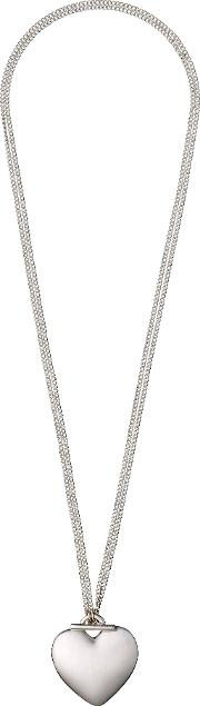 Pilgrim , Silver Plated Necklace With A Heart, N