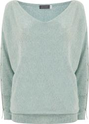 Mint Velvet , Spearmint Split Sleeve Batwing Knit, Green