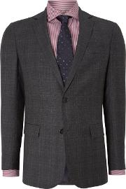 Richard James Mayfair , Men's  Checked Contemporary Suit, Charcoal