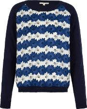 Uttam Boutique , Daisy Stripe Print Jumper, Blue