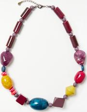 One Button , Long Beaded Necklace
