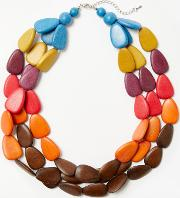 One Button , N1585 Long Beaded Necklace