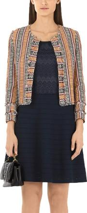 Marc Cain , Embroidered Dress, Midnight Blue