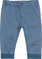 Wheat , Baby Kevin Twill Trousers, Blue