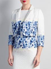 Bruce By Bruce Oldfield , Floral Placement Jacket, Blue