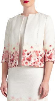 Bruce By Bruce Oldfield , Floral Placement Jacket, Ivory