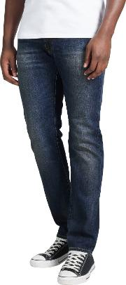 Edwin , Ed 55 Relaxed Tapered Jeans, Deep Blue Denim Grime Dirt Wash