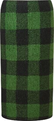 Marc Cain , Knitted Check Skirt