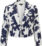 Bruce By Bruce Oldfield , Opaque Floral Jacket, Silvernavy