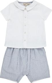 John Lewis Heirloom Collection , Baby Shirt And Shorts Set