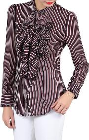 Jolie Moi , Striped Frilly Blouse