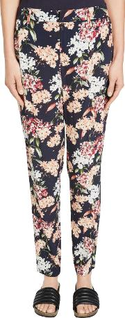 Oui , Floral Print Trousers, Multi