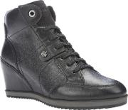Geox , Illusion Wedge Heeled Lace Up Trainers