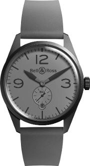 Bell & Ross , Brv123 Commando Men's Vintage Original Automatic Rubber Strap Watch