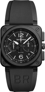 Bell & Ross , Br0394 Bl Ce Men's Rubber Strap Watch